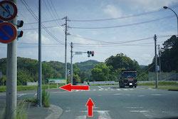 飛竜大橋北の信号を左へ