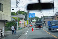 Y字路を左(152号線/水窪・船明方面)へ