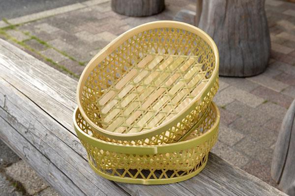地場産品:竹かご